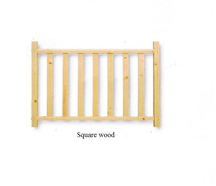 Square wood hekwerk